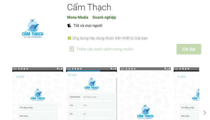 app order hàng Trung Quốc Cẩm Thạch