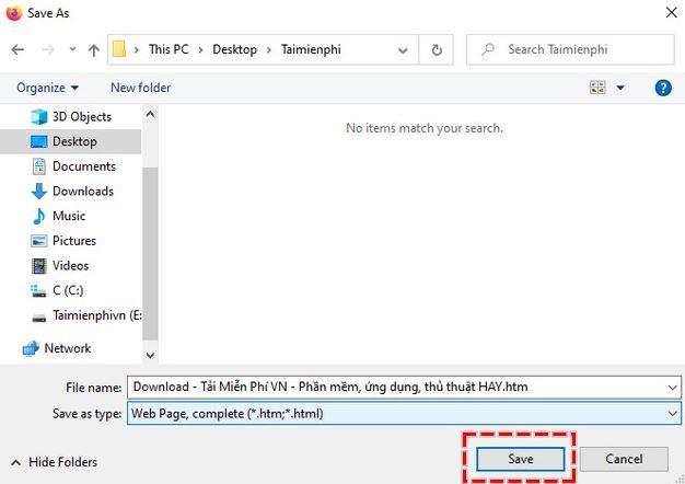 lưu ảnh từ trang web không cho lưu trên Firefox